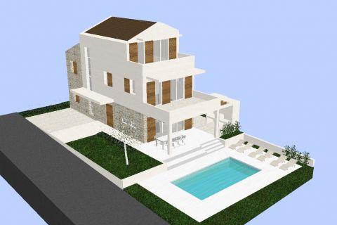 Ingatlan Tribunj Horvátország, telek, Mirakul ingatlaniroda, ID - GT-334, Építési telek közel a tengerhez tervekkel családi villára 2