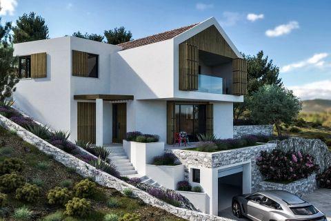 Šibenik, Baugrundstück mit ausgegebener Baugenehmigung für eine familien Villa