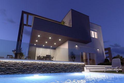Immobilien Brodarica, Luxus Villa von modernem Design mit Pool und Jacuzzi