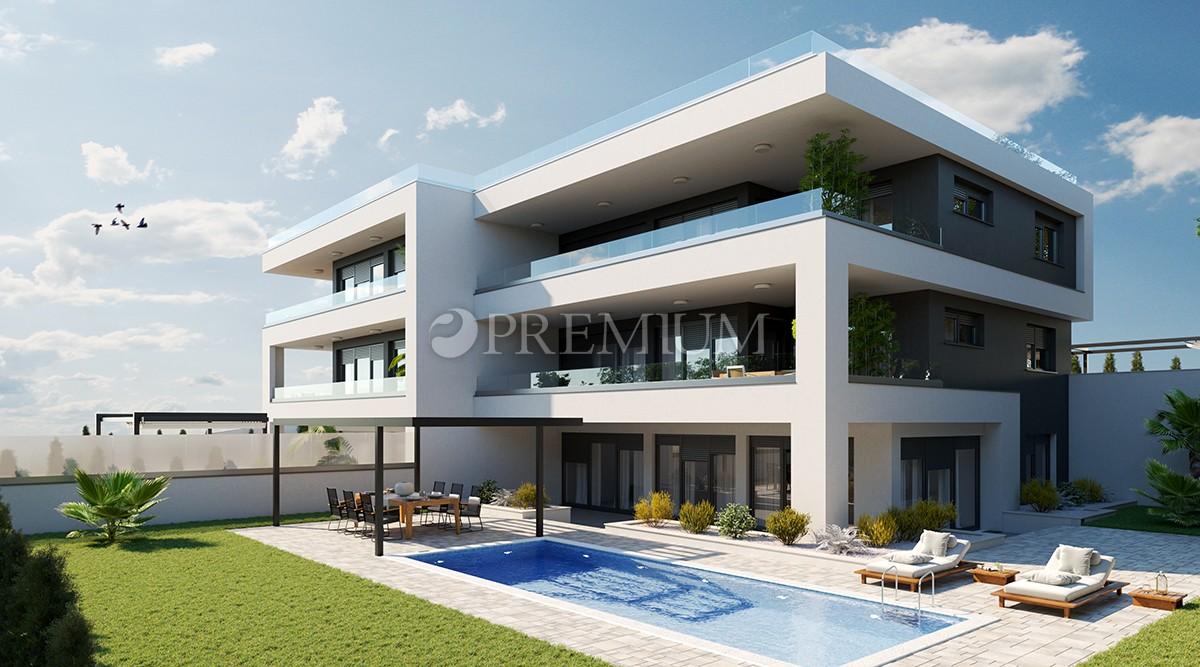 Malinska, sodoben apartma s pogledom na morje in lepo teraso, le 150 m od morja!