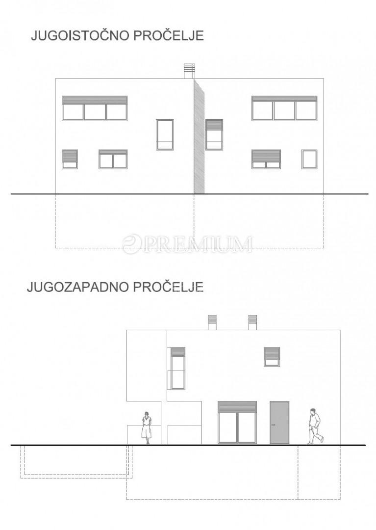 Malinska, prodaja, luksuzna dvojna kuća s bazenom, novogradnja!