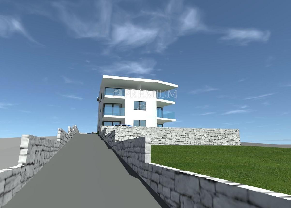Punat, prodaja, dvoetažni apartman na prvom katu s pogledom na more!