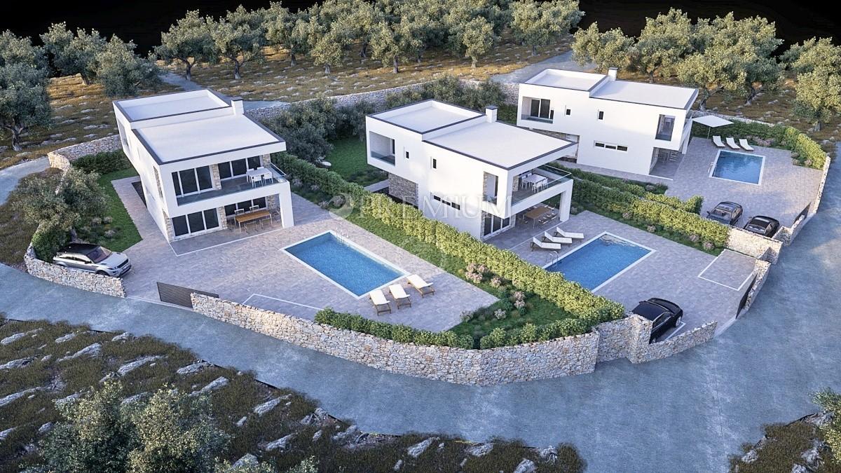 Krk, Linardići, prodaja, zazidljivo zemljišče 596 m2 z veljavnim gradbenim dovoljenjem in pogledom na morje!
