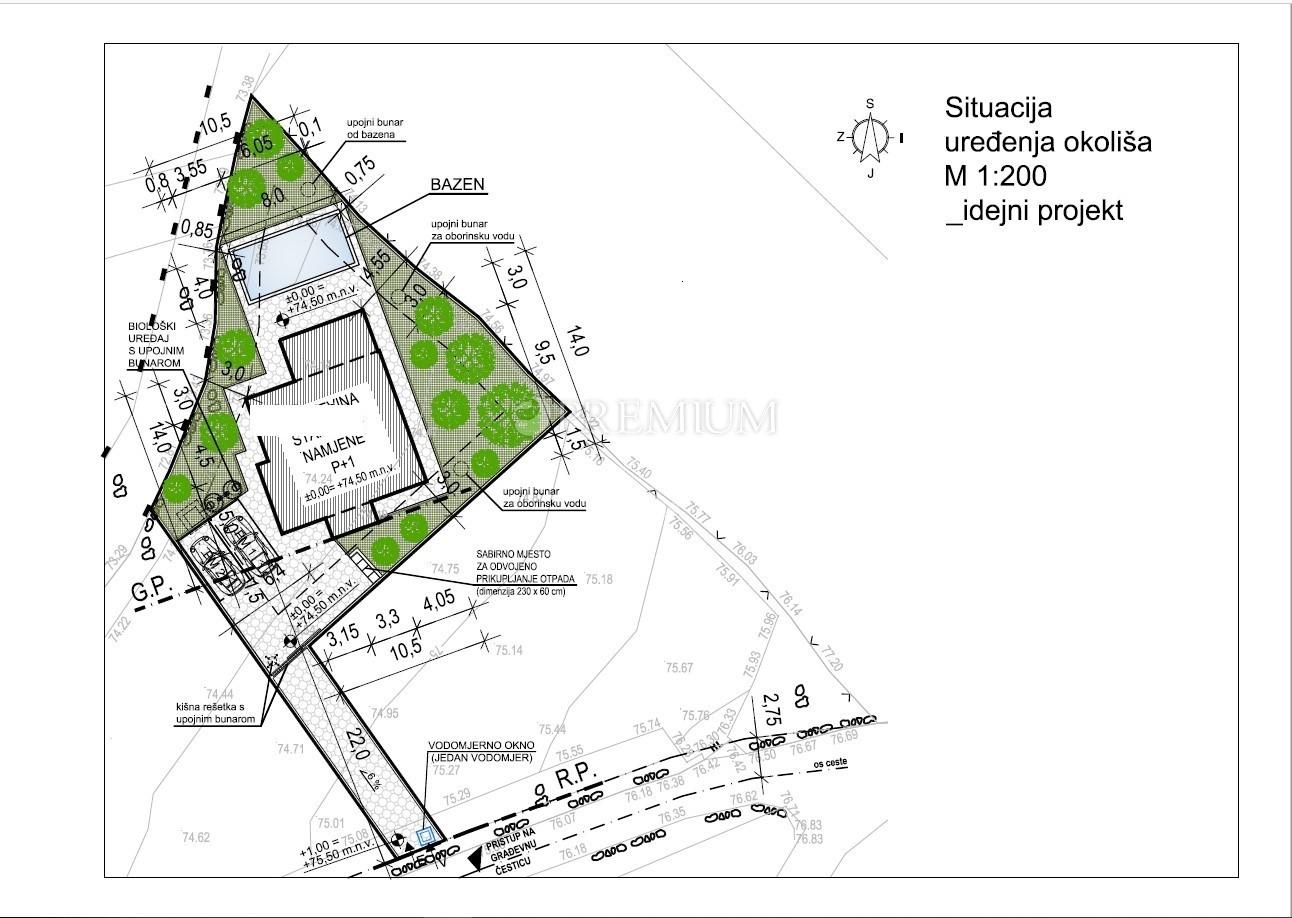 Malinska, okolica, stavbno zemljišče za prodajo z veljavnim gradbenim dovoljenjem, projekti in čudovit projekt lokalizacije!