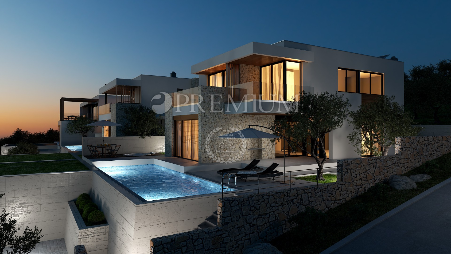 Crikvenica surroundings, for sale exclusive villa of 267m2 with swimming pool in a quiet location!