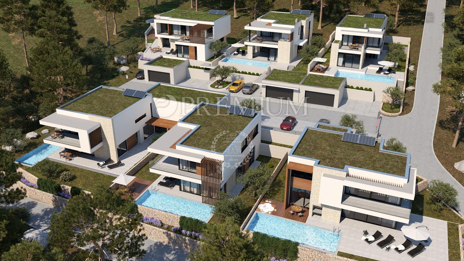 Okolica Crikvenice, luksuzna vila z bazenom na prodaj, med domačimi rastlinami, v katerih dominirajo oljka, sivka in rožmarin!