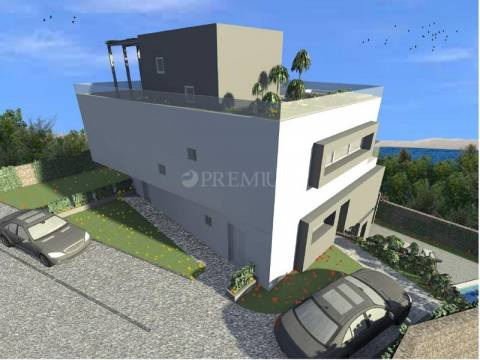 Selce, sales penthouse apartment with exclusive equipment and seaview!