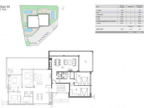 Malinska, prodaja apartmana na prvom katu u novogradnji, samo 150 m od mora!!