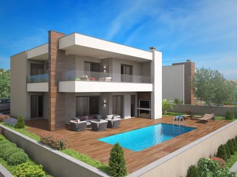 Krk, prodaja, samostojeća kuća s bazenom i prostranom okućnicom!