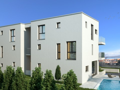 Malinska, prodaja, apartman na drugom katu novogradnje s lijepim pogledom na more!