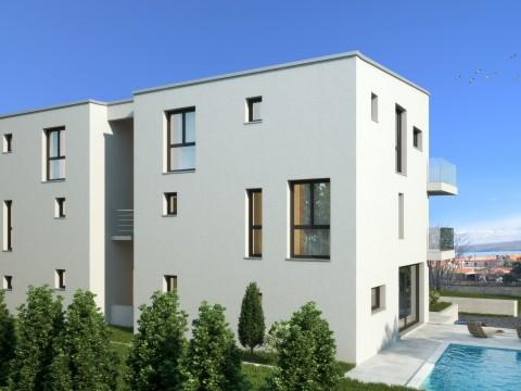 Malinska, Verkauf, Maisonette-Wohnung 200 m vom Meer entfernt, Neubau!