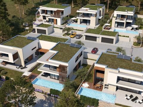 Цриквеница окрестности, продается эксклюзивная вилла 267м2 с бассейном в тихом месте!