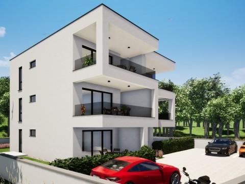 Njivice, prodaja, apartman u izgradnji na drugom katu s pogledom na more!