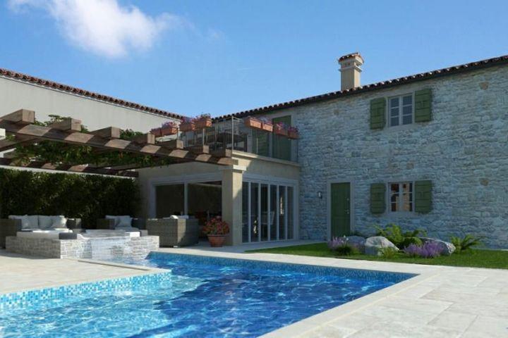 Dvije nove kamene kuće s bazenom