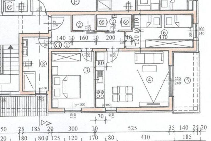 Novi dvosoban stan  67 m2, 5 km od mora