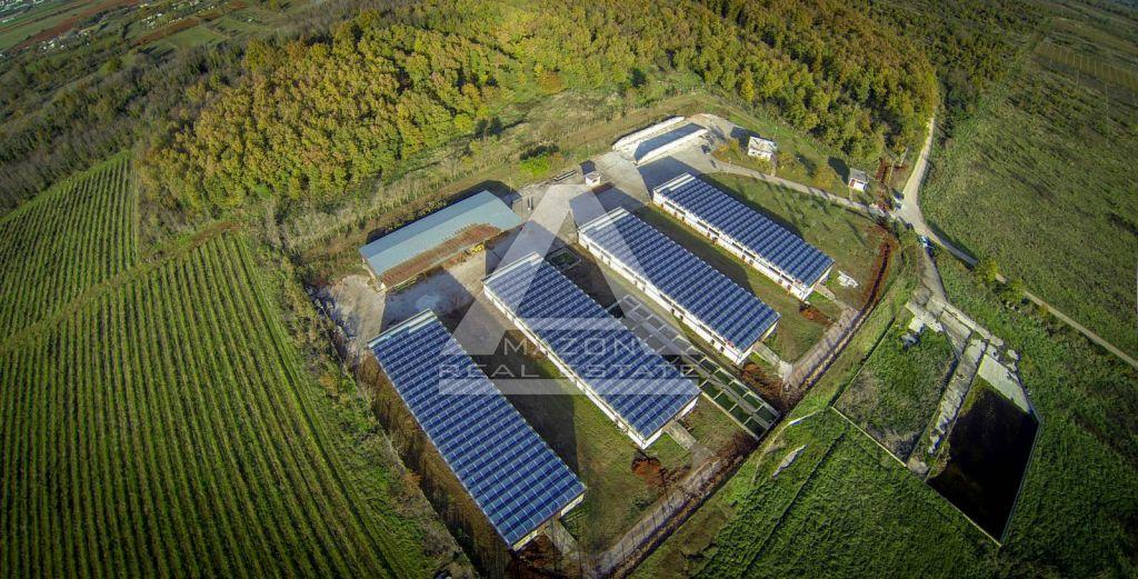 Umag, 4 hale svaka 800 m2, 29.227 m2 zemljišta