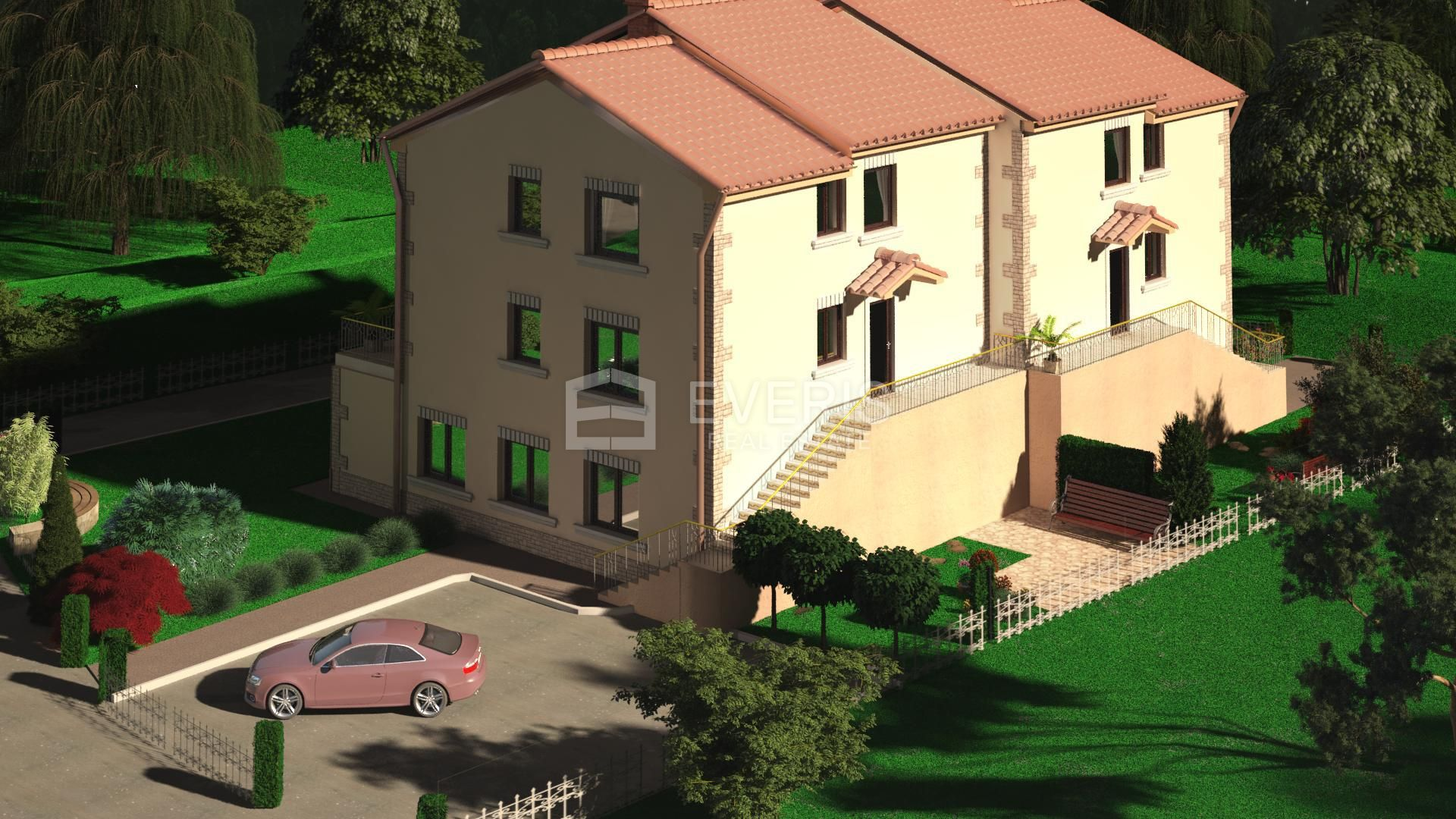 Kastav, Brnčići, građevinsko zemljište, 1.081 m2
