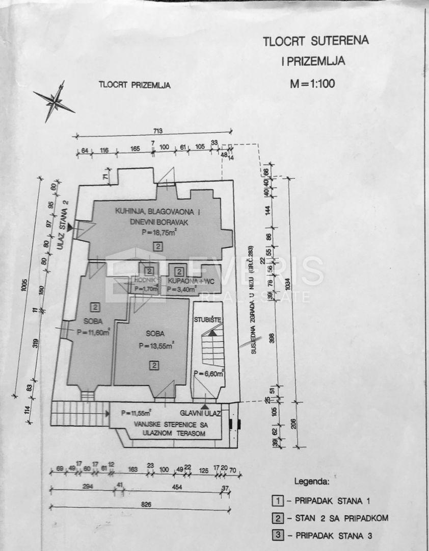 Opatija, centar, stan 2S+DB, 55 m2, s 4 parkirna mjesta