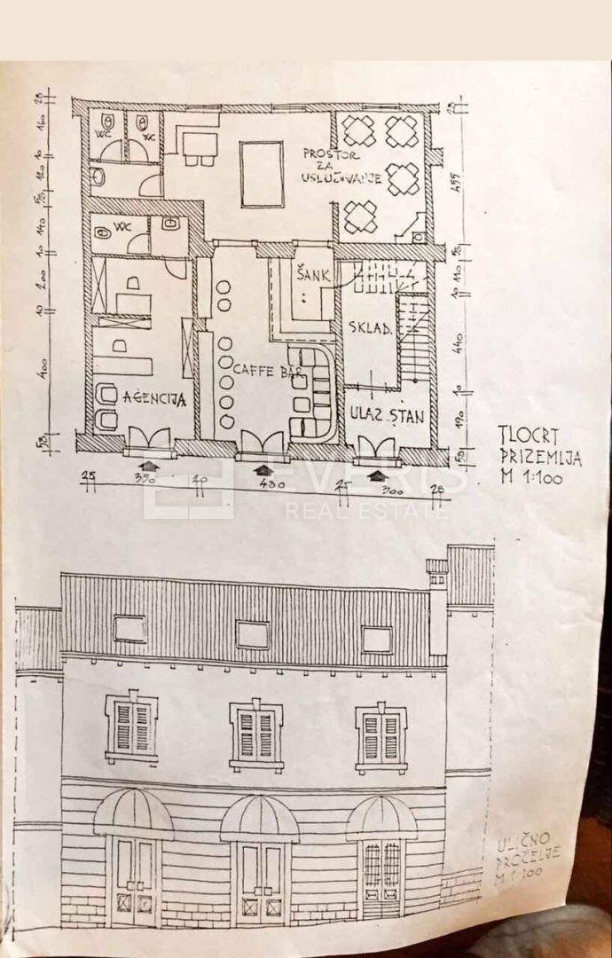 Poreč, centar, kuća s poslovnim prostorom