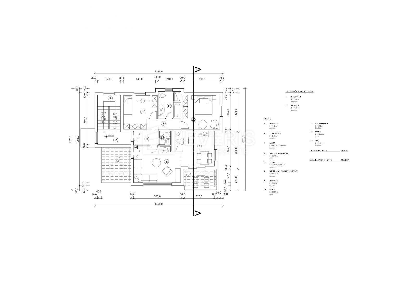 Kastav, stan 2S+DB 94 m2