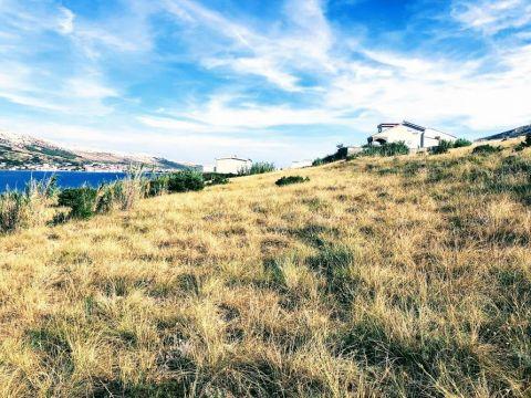 Pag, atraktivno zemljište prvi red od mora