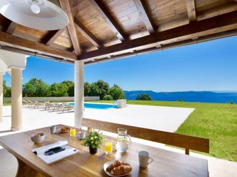 Istra, Rabac, luksuzna vila s panoramskim pogledom