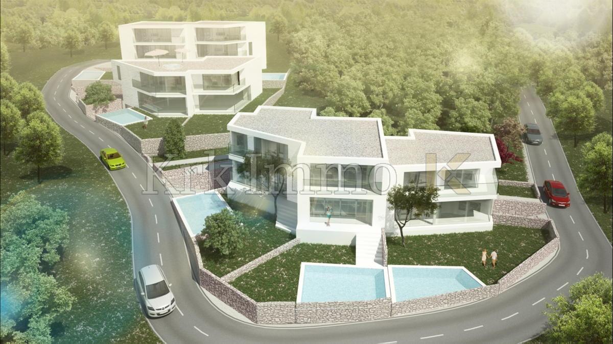 Otok Krk. Nova moderna kuća 150m od mora.