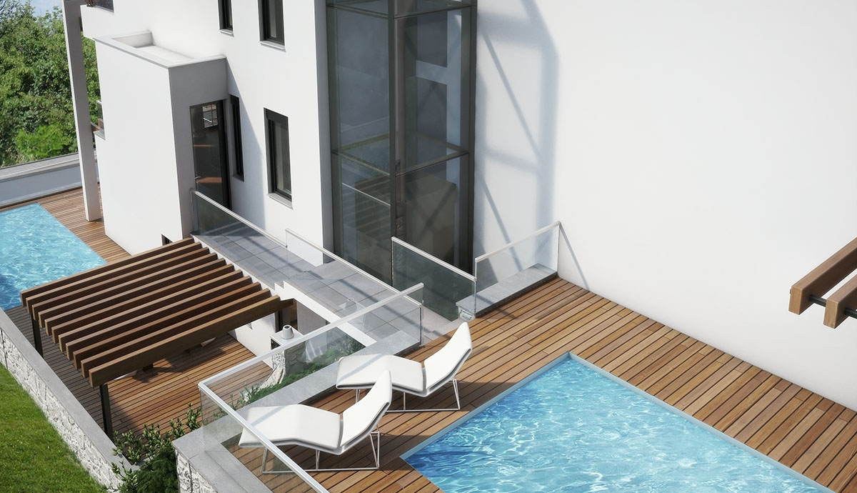 Ground floor with pool and sea view. Recommendation.