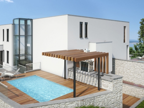 Kiváló minőségű apartman és felszerelés. Panorámás kilátás a tengerre.