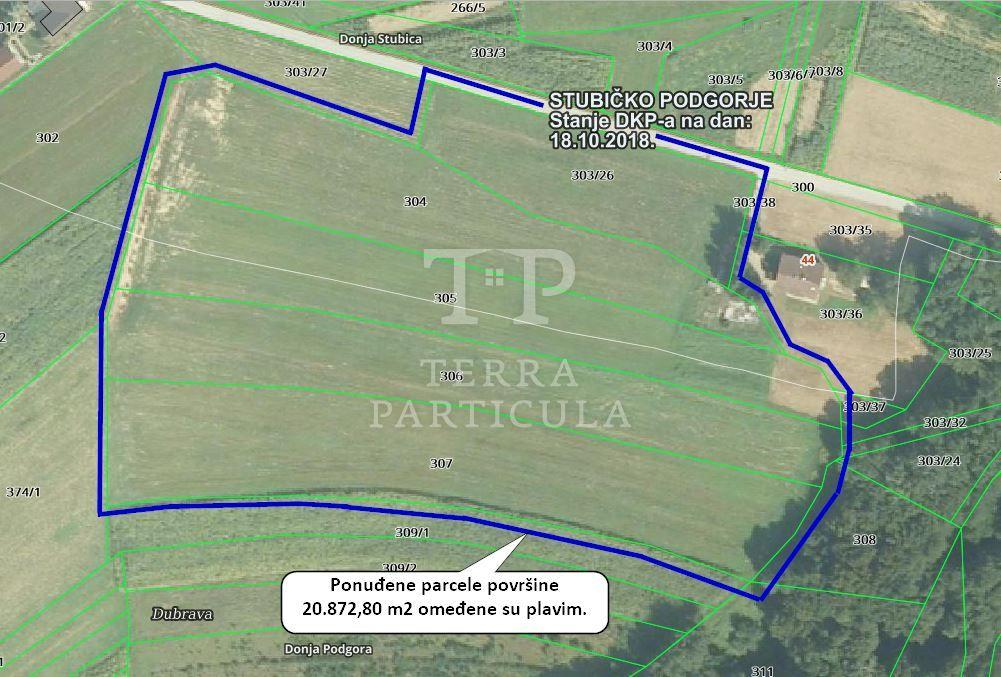 Donja Stubica , građevinsko zemljište, 20.873 m2
