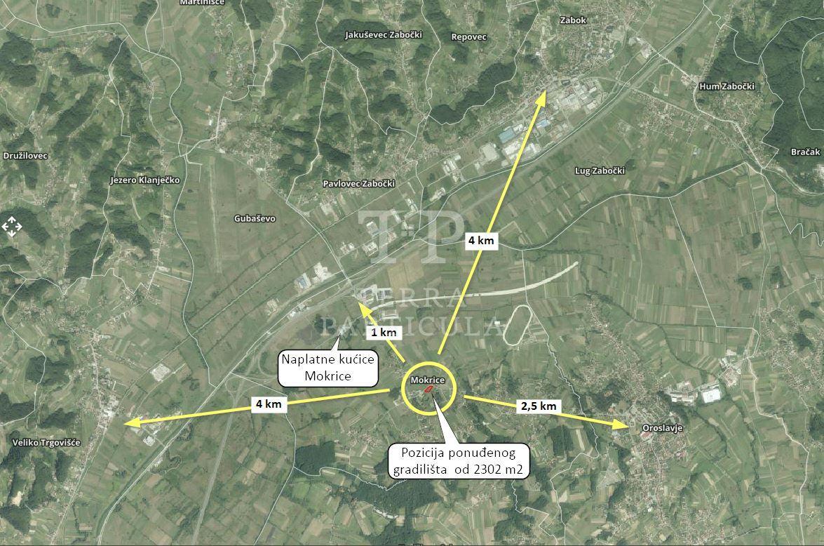 Oroslavje, Mokrice, građ. zemljište 2302 m2