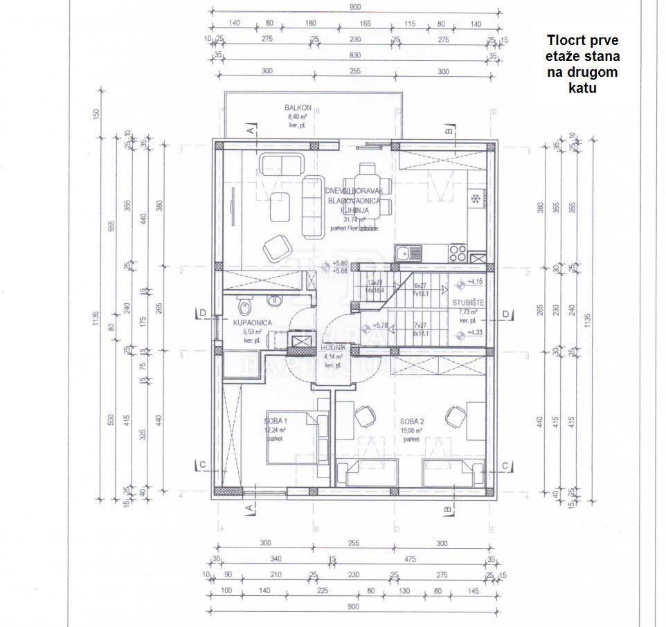 Zagreb, Pazinska 11, stanovi od 81,32 m2 i 94,88 m2