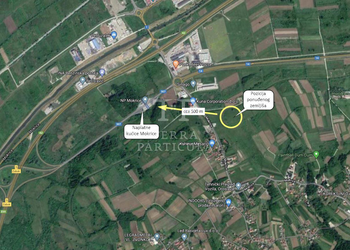 Oroslavje, Mokrice 1856 m² građevinskog zemljišta na prodaju