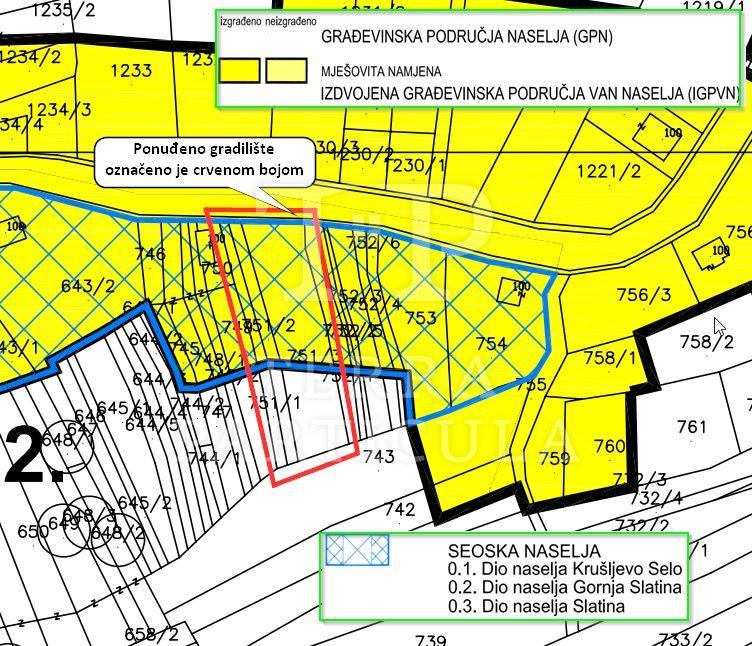 Stubička Slatina, gradilište od 1258 m2
