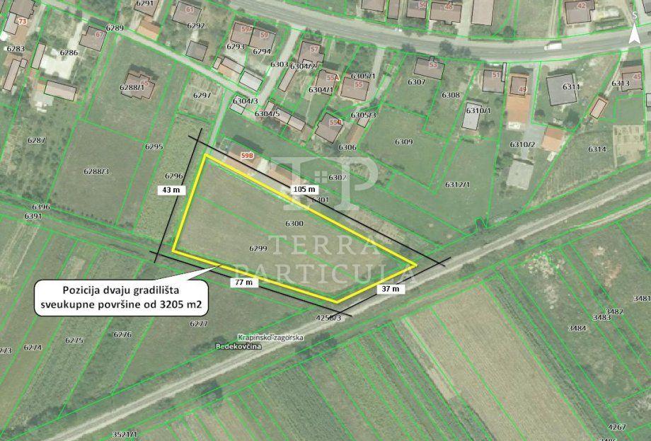 Građevinsko zemljište, Bedekovčina, 3205 m2