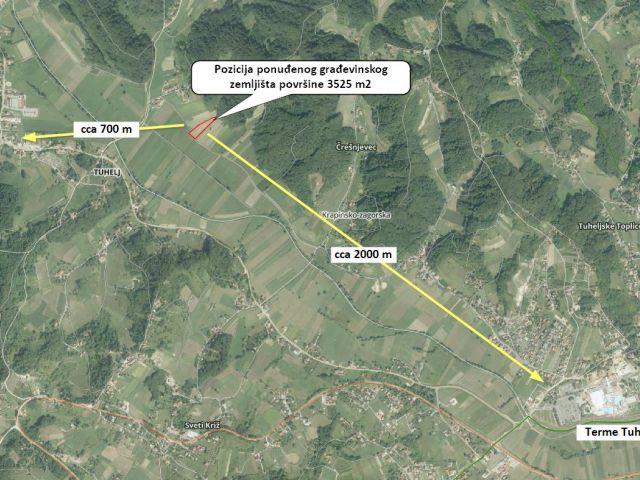 Tuheljske Toplice, građevinsko zemljište 3525 m2, 10.575. eur