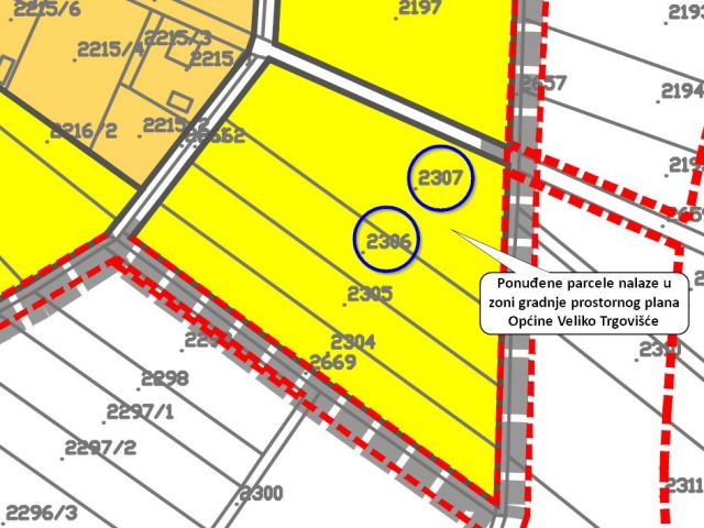 Veliko Trgovišće, gradilište 6485 m2