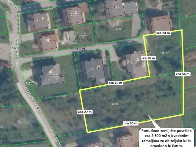 Donja Stubica, gradilište 2.500 m2 s izvedenim temelejima