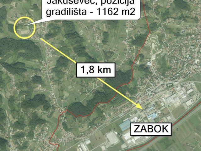 Zabok, Jakuševec, gradilište 1192 m2 za 9.900 eur-a