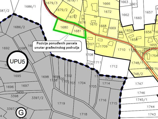 Zabok, Jakuševec, gradiište od 1767 m2