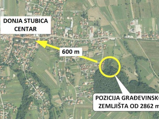 Građevinsko zemljište, Donja Stubica, 2862 m2