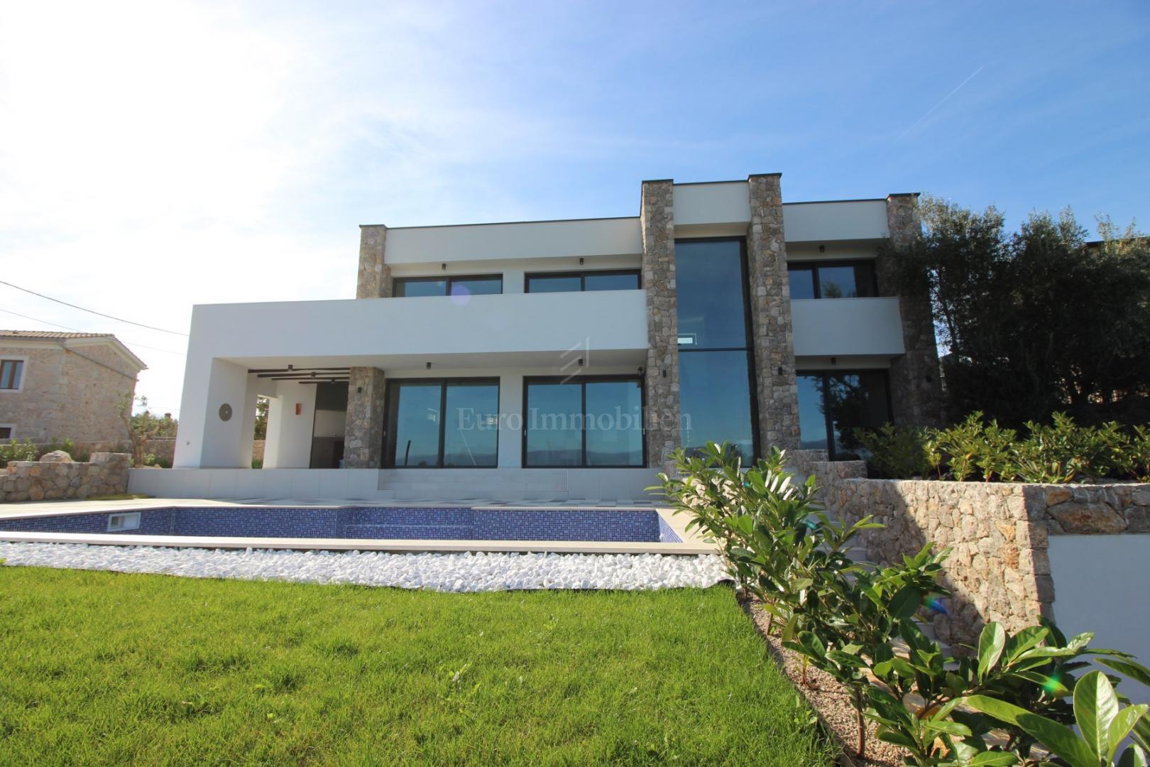 Moderne Sommerküchen : Moderne villa ausgezeichnete lage blick aufs meer haus