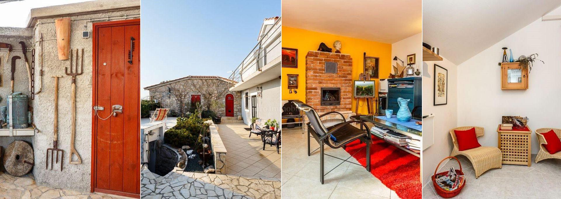 Stilom uređena samostojeća stara kamena kuća