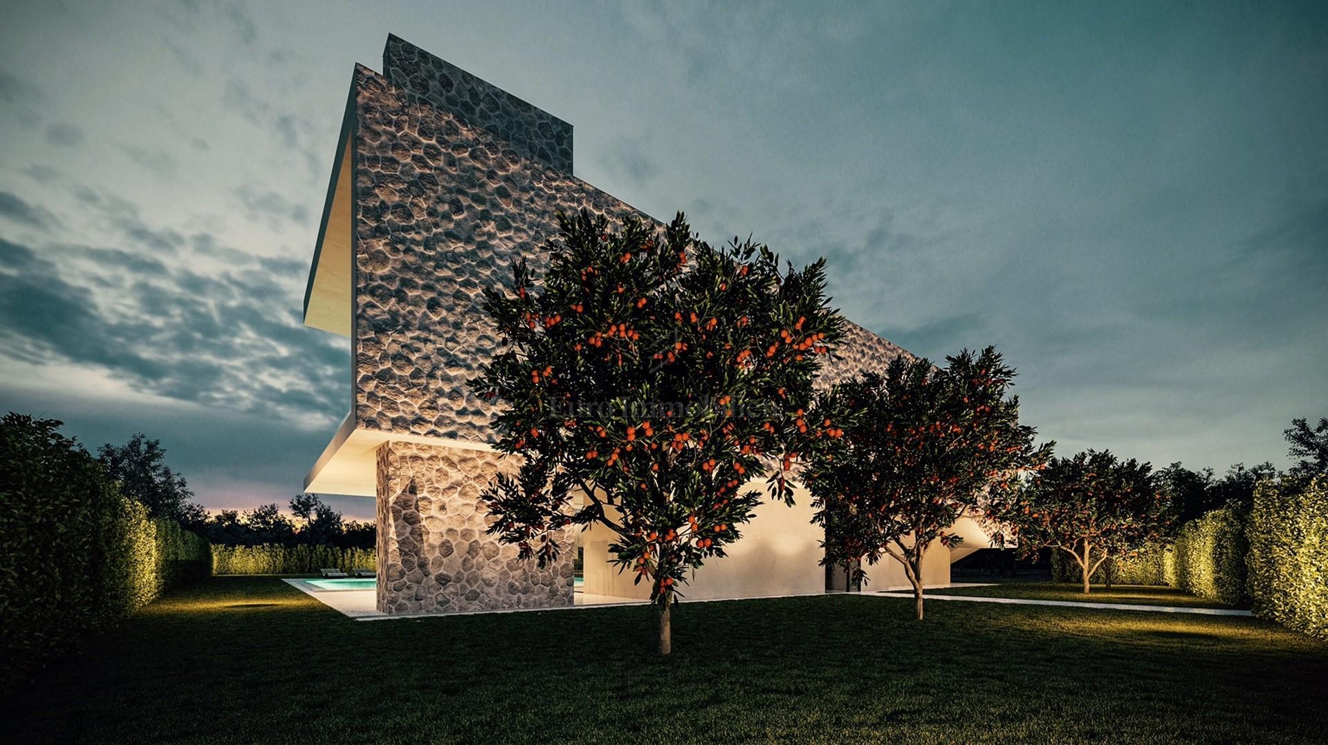Građevinsko zemlijšte sa jedinstvenim projektom moderne vile