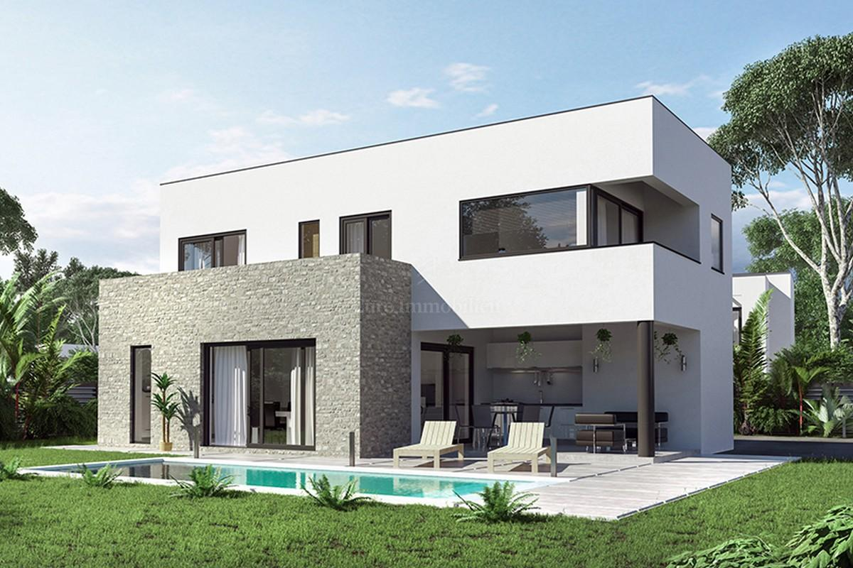 The investment project in istria five villa of modern design