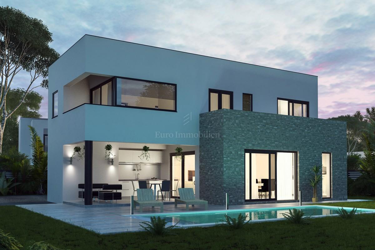 The investment project in istria five villa of modern design house