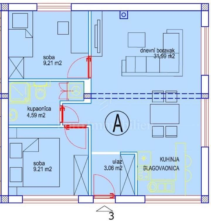 Apartman prvi red do mora