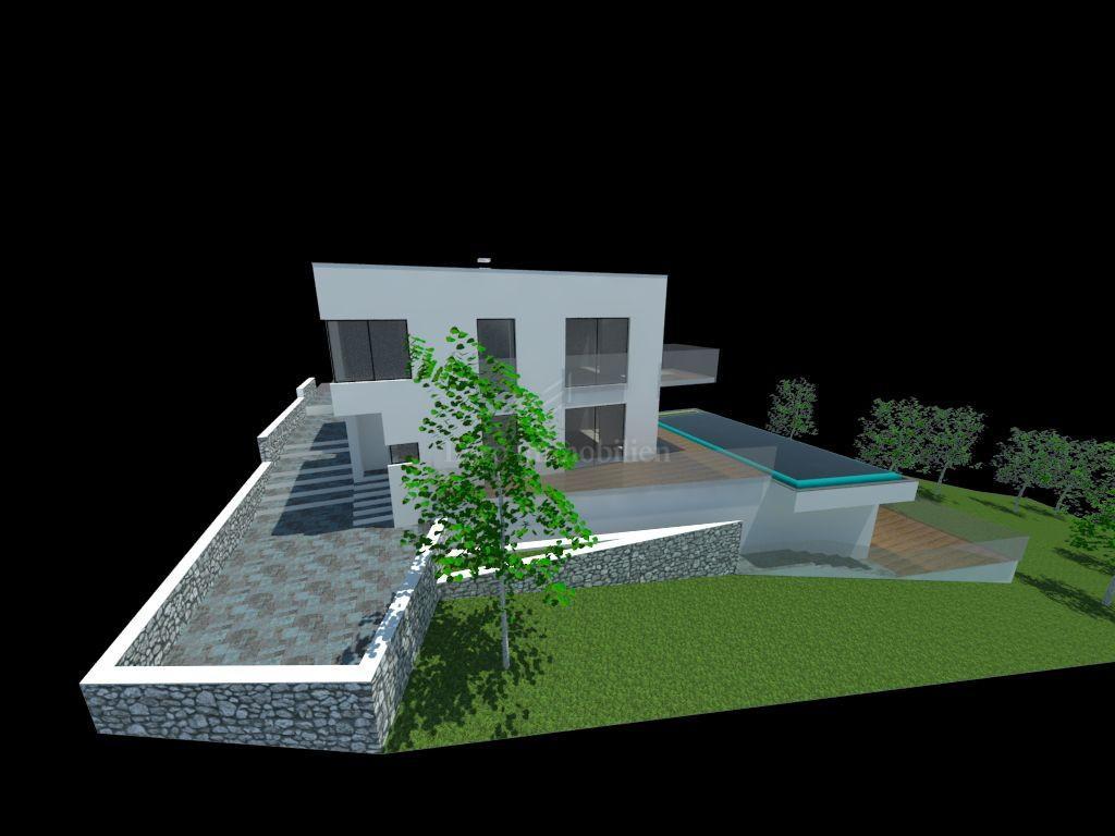 Građevinsko zemljište sa projektom za obiteljsku kuću