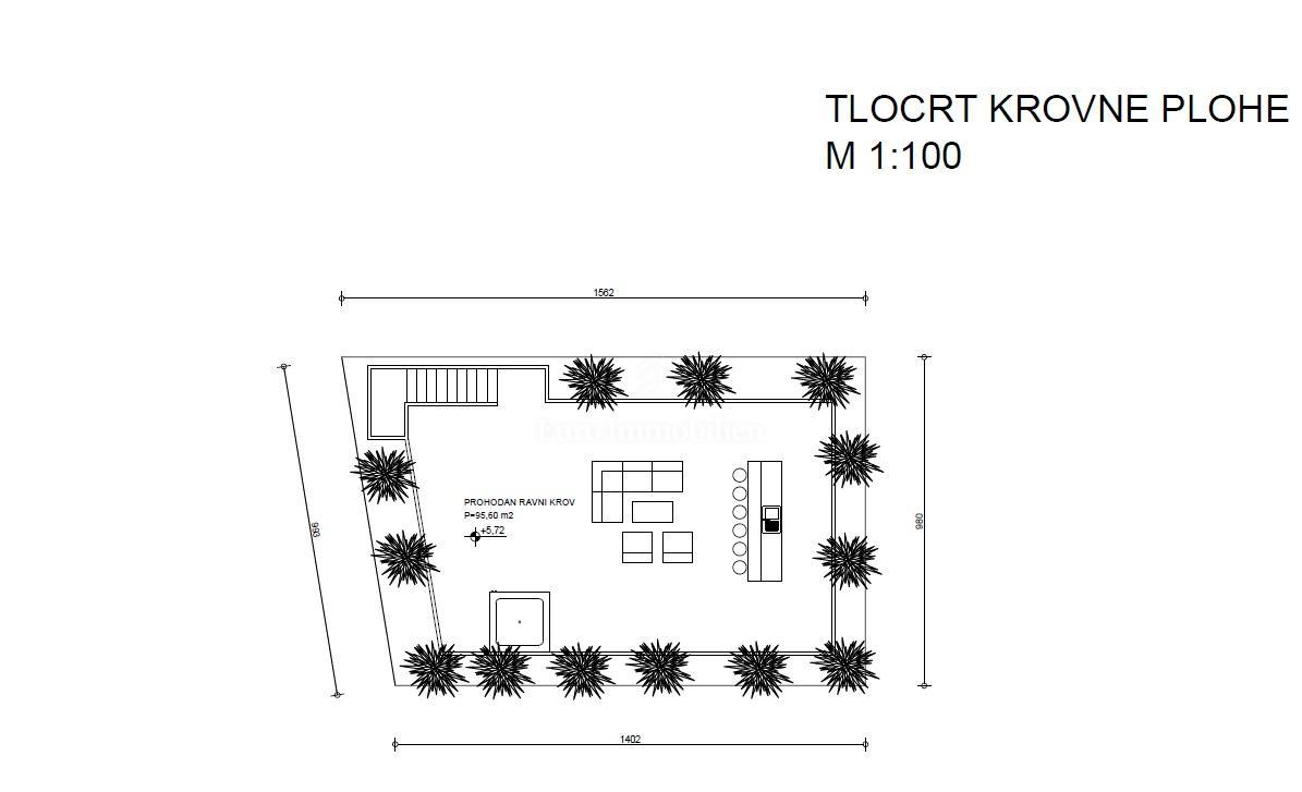 Prostrani apartman na prvom katu s krovnom terasom, novogradnja!