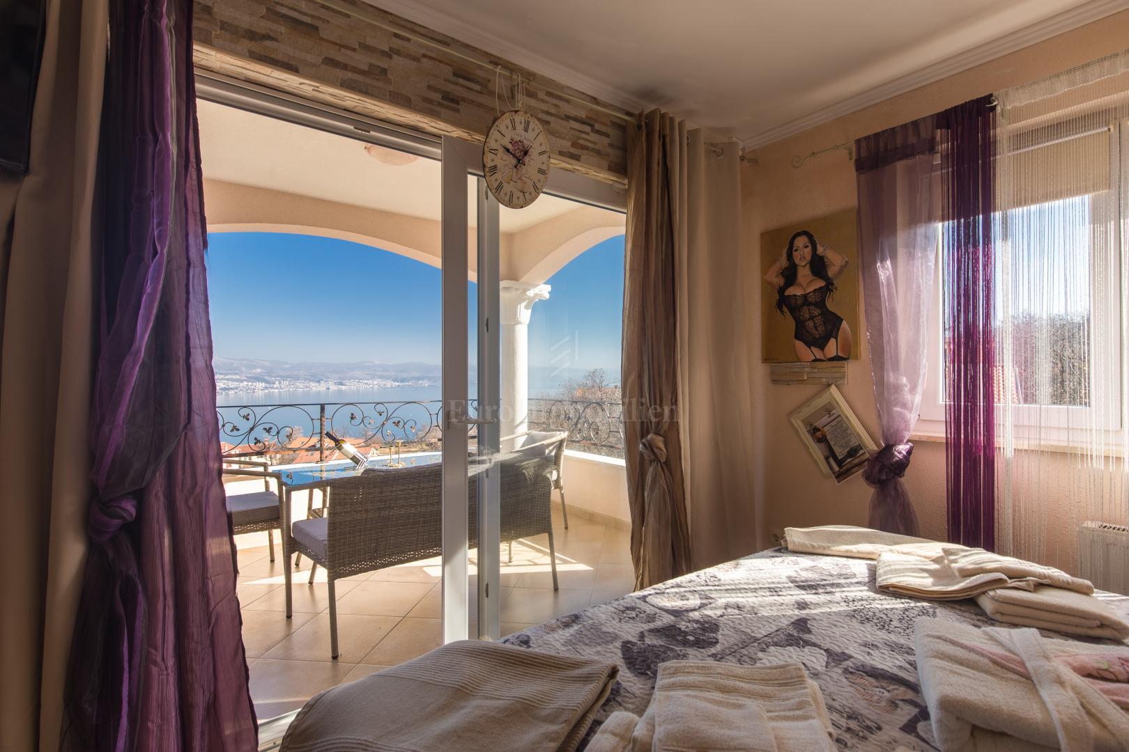 Bellissima villa con vista sul mare